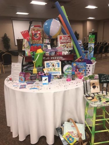 One of the tables at the recent Come to the Table fundraiser is pictured.