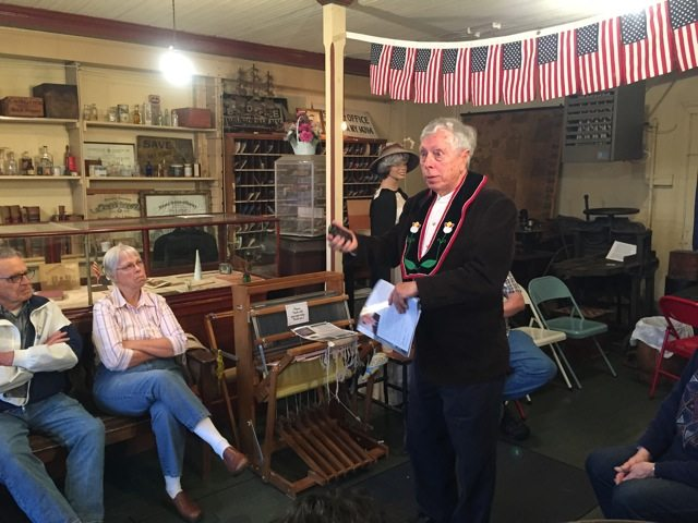 George Clever from Stockton was the recent guest speaker at the Valley Historical Society meeting on preserving oral history, and recording the information.