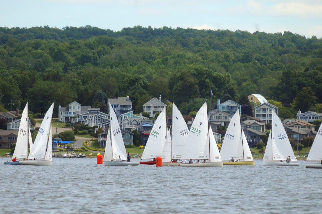 The 2017 Thistle National Championship has been underway on Chautauqua Lake. Monday marked the beginning of races, which go through today. It's just one of many activites in and around the lake this summer.  P-J photo by Matt Spielman