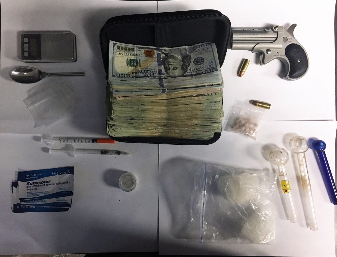 Pair Charged After Drugs, Cash, Weapon Found In Traffic Stop