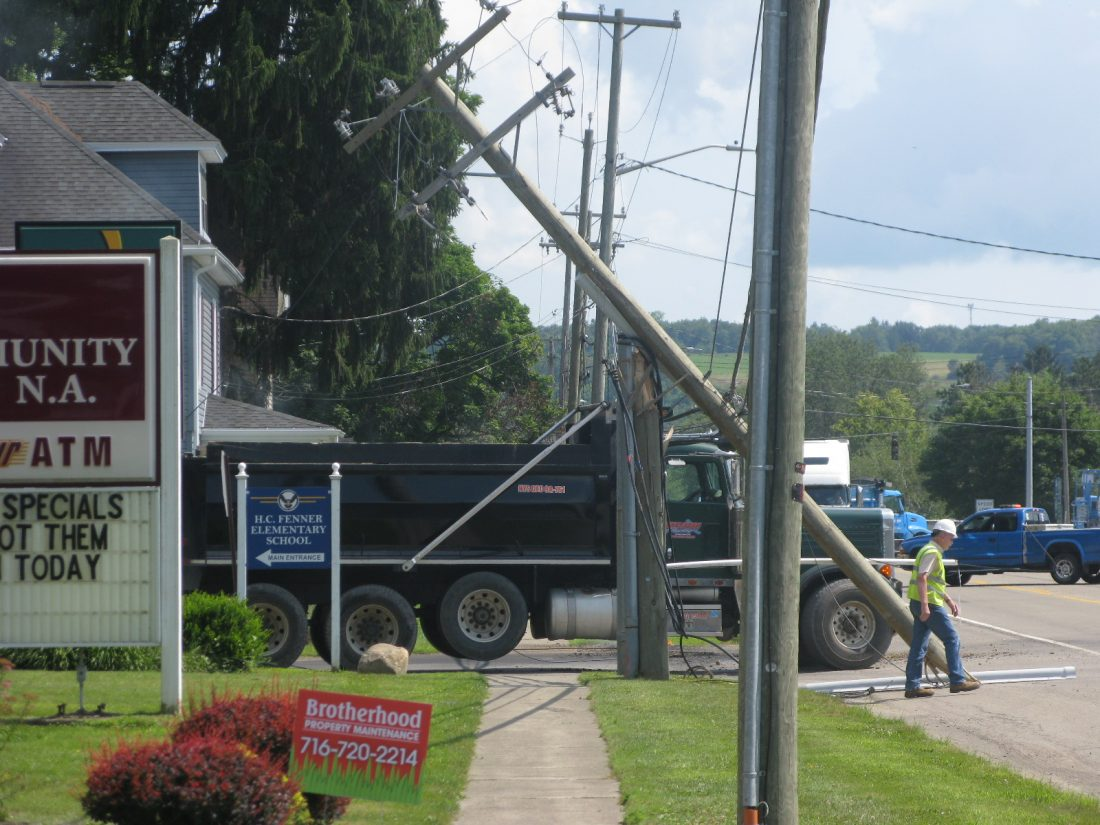 Dump Truck Strikes Utility Pole, Closes Traffic | News