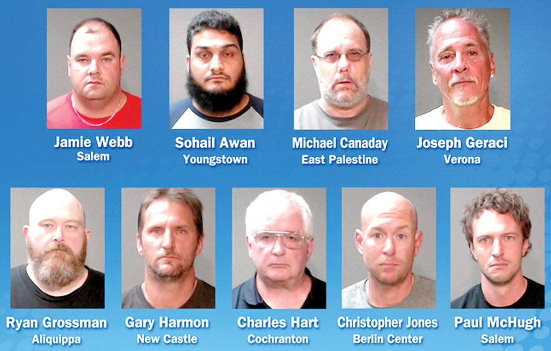 9 arrested in sex trafficking sting | News, Sports, Jobs - The Review