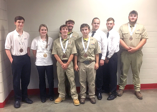 PHOTO PROVIDED Penn College students who medaled at the National Leadership and Skills Conference are, from left, Weston L. Laity, of Blandon; Erin M. Beaver, of Winfield; Aaron F. White, of Westover; Anthony J. DiBucci, of Glenshaw; Joseph L. Brubaker, of Port Trevorton; Slavik Y. Borisov, of Lewisburg; Matthew R. Bean, of McElhattan; and Philip A. Kneller, of New Albany.
