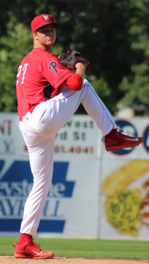 CARA MORNINGSTAR/Sun-Gazette Will Stewart pitches for the Crosscutters Sunday vs. Lowell.
