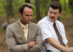 """This image released by HBO shows Danny McBride, right, and Walton Goggins in a scene from, """"Vice Principals,"""" returning for a second season on Sunday. (Fred Norris/HBO via AP)"""