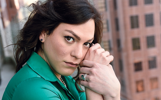 """In this Sept. 9, 2017 photo, Chilean trans actress Daniela Vega, a cast member in the film """"A Fantastic Woman,"""" poses for a portrait at the The Adelaide Hotel during the Toronto International Film Festival in Toronto. She plays Marina, a transgender woman whose partner dies, after which Marina is subjected to harsh treatment by the family of her deceased lover and by police investing the death. (Photo by Chris Pizzello/Invision/AP)"""