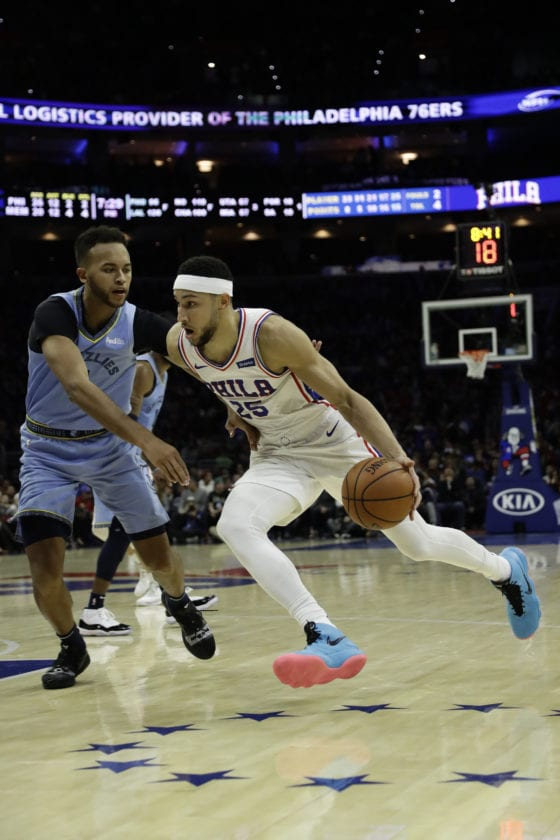 0798af0deb0a8b Philadelphia 76ers  Ben Simmons in action during an NBA basketball game  against the Memphis Grizzlies