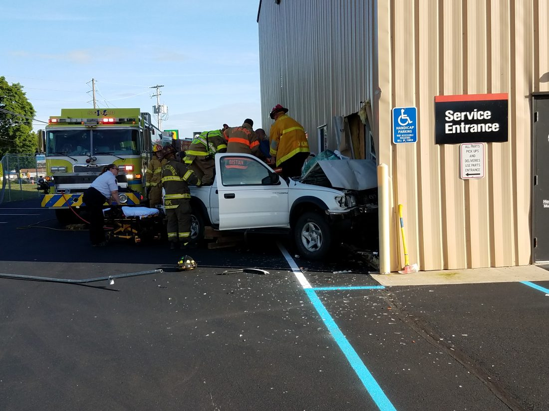 Truck runs into building in Loyalsock Township   News, Sports, Jobs 1