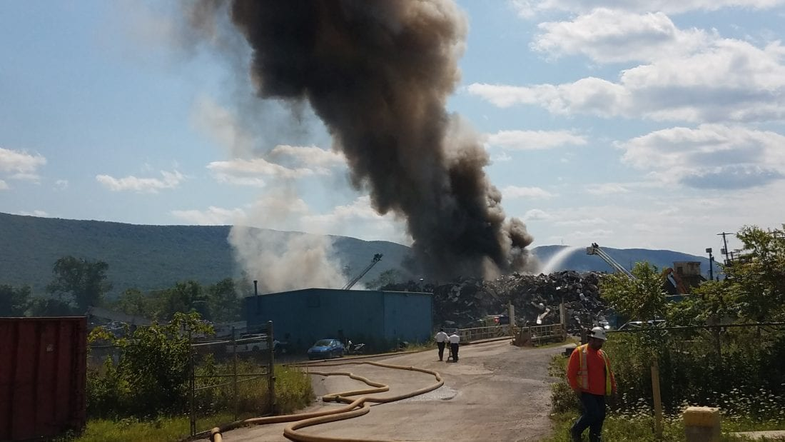 Scrap pile at recycling center catches fire | News, Sports