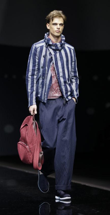 3ed1ff7e08ef A model wears a creation part of the Giorgio Armani men s Spring-Summer 2016-2017  collection