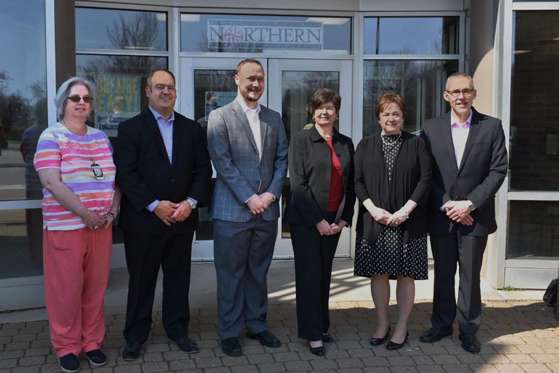 Photo Provided Celebrating a new partnership between Weirton Medical Center  and West Virginia Northern Community College are, from left, Anita Dehlem,  WVNCC ...