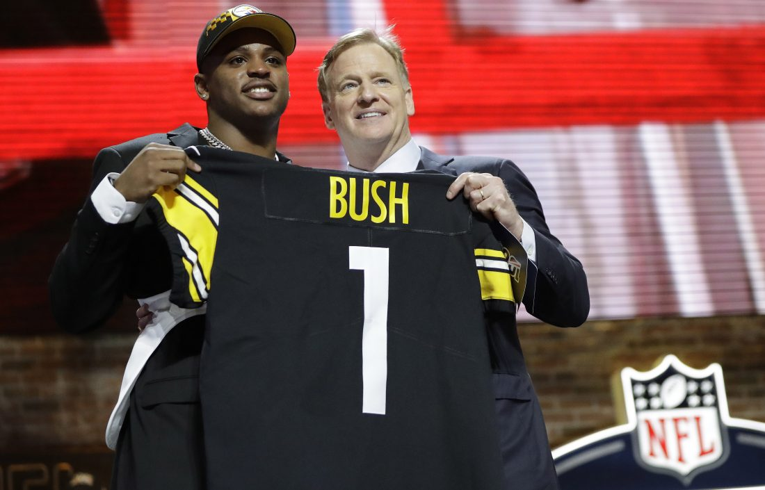 39c53ad9f Steelers Trade Up To Draft Bush