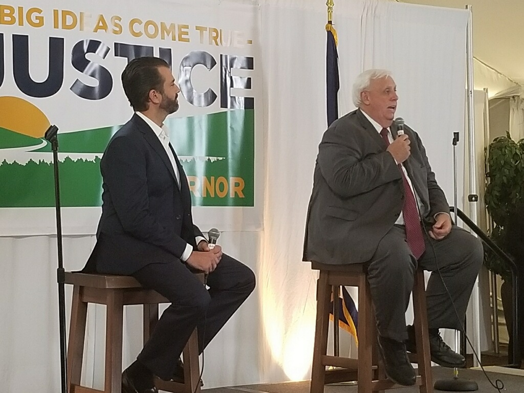 West Virginia Governor Justice, Thrasher Woo Supporters, Voters