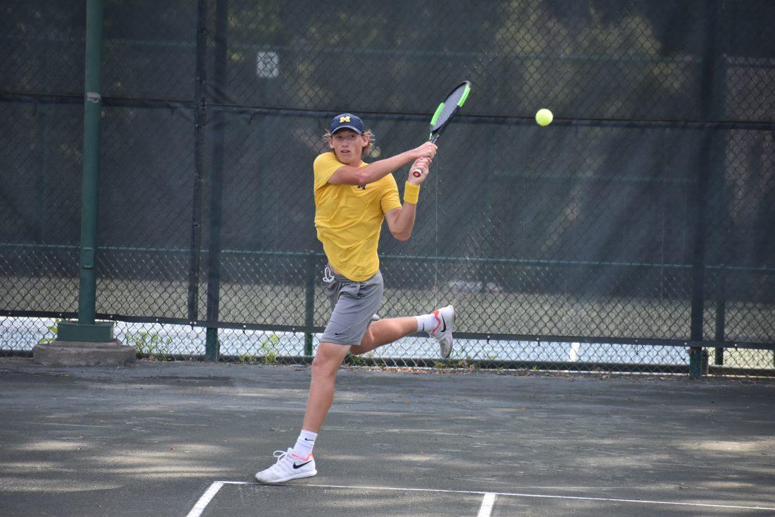 University of Michigan Wolverines Tennis Players Make Trek To