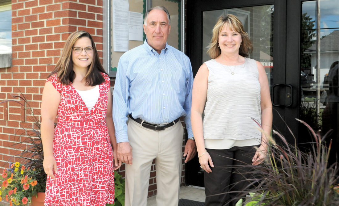 The Inter-Mountain photo by Beth Henry-Vance Randolph County Schools will have three new people serving in leadership roles beginning July 1. From left are Amy Smith, who will be the new director of federal programs/curriculum; Gabriel J. 'Gabe' Devono, who will be the new superintendent of schools; and Debra Schmidlen, who will be the new assistant superintendent of schools.