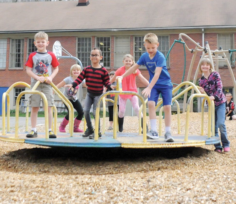The Inter-Mountain file photo by Beth Henry-Vance Playground equipment from Valley Head Elementary School, which will not reopen this fall, is expected to be moved to Midland Elementary School in Elkins.