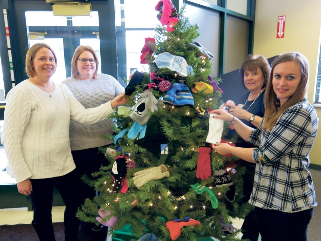 Tree sprouts mittens and more at ErieBank | News, Sports