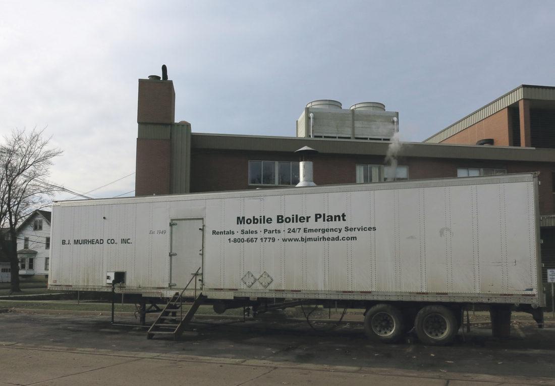 Mobile boiler parked outside WGH means hospital upgrades