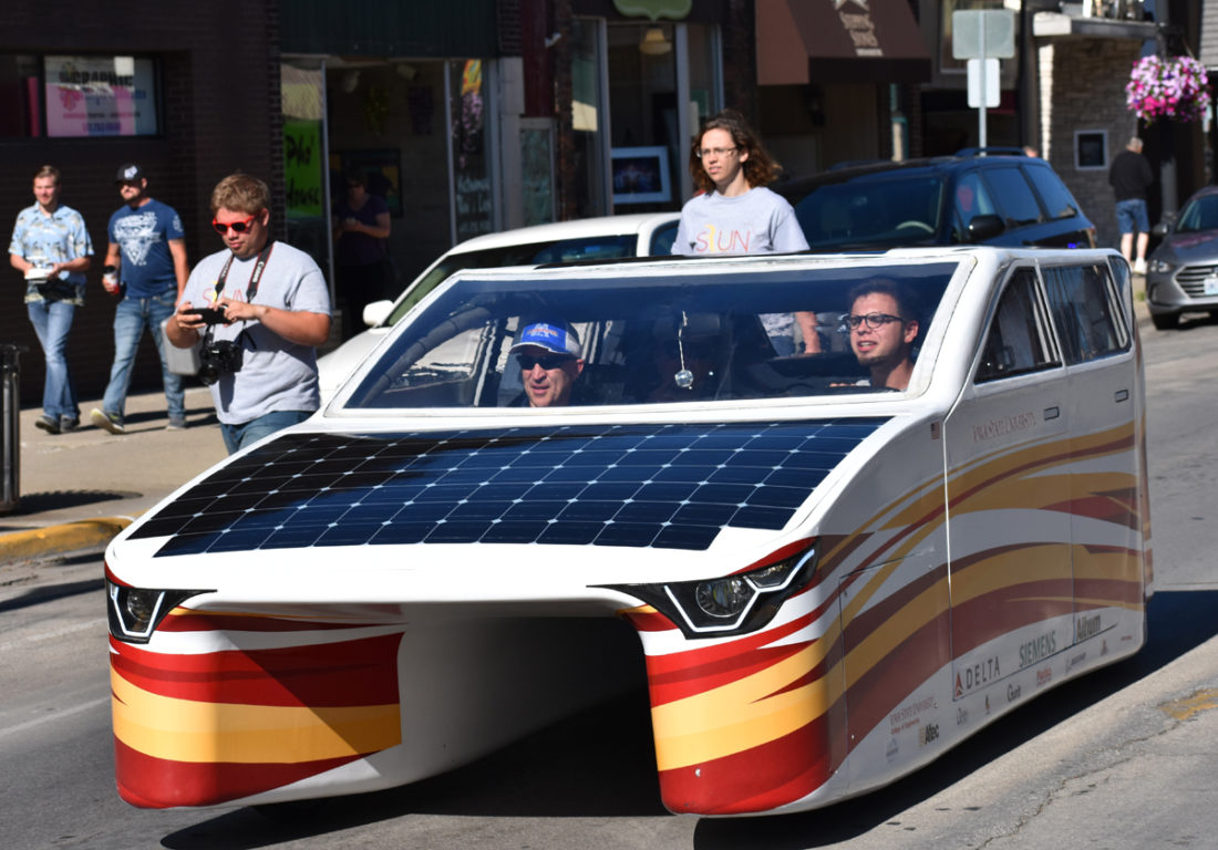 solar car on the square' | news, sports, jobs - times republican