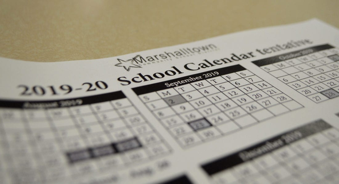 Marshalltown Schools 2019-2020 calendar approved | News