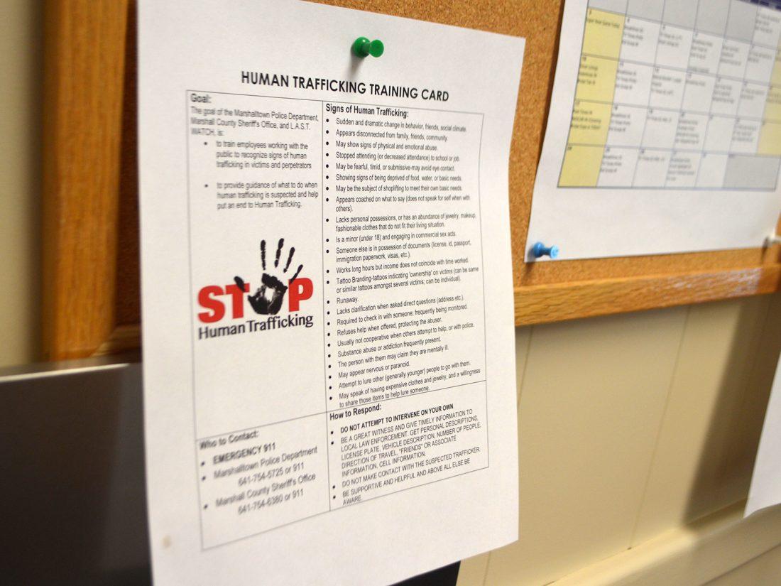 Human trafficking awareness group focusing on public