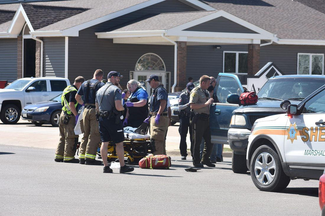 One person injured in truck vs  motorcycle accident | News, Sports
