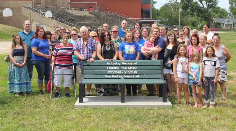 Bench dedicated to Christian Maxon | News, Sports, Jobs