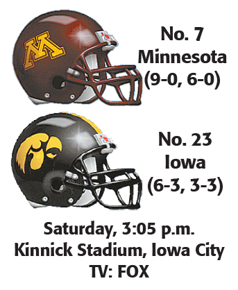 No 23 Iowa Out To Play Spoiler Vs No 7 Gophers News