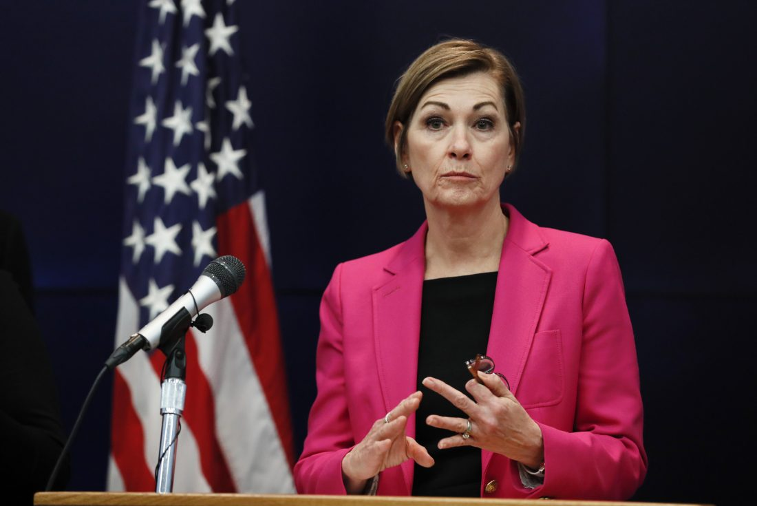 Iowa Gov. Reynolds to hold COVID-19 conference