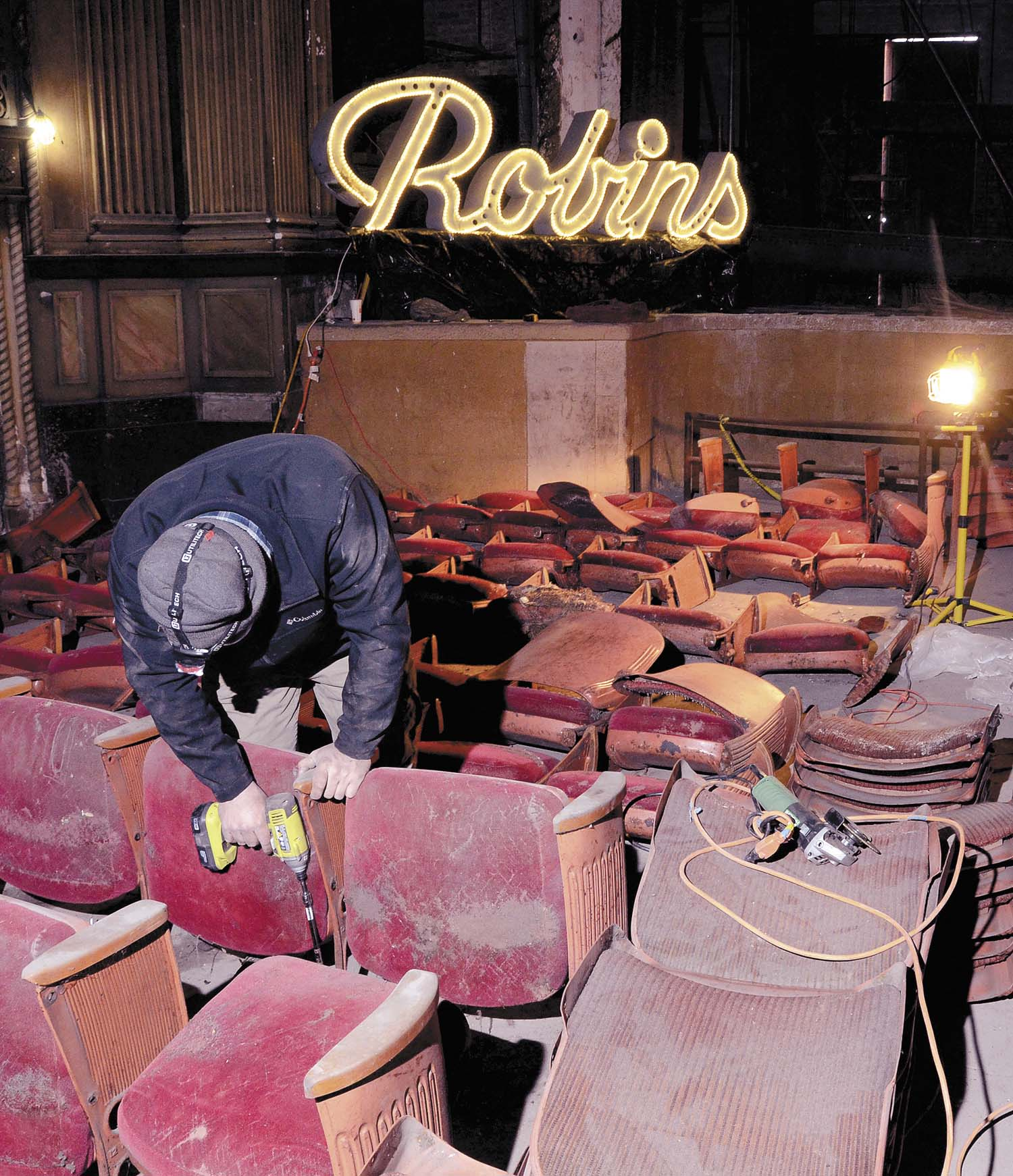 Robins Theatre Seat Removal Begins News Sports Jobs