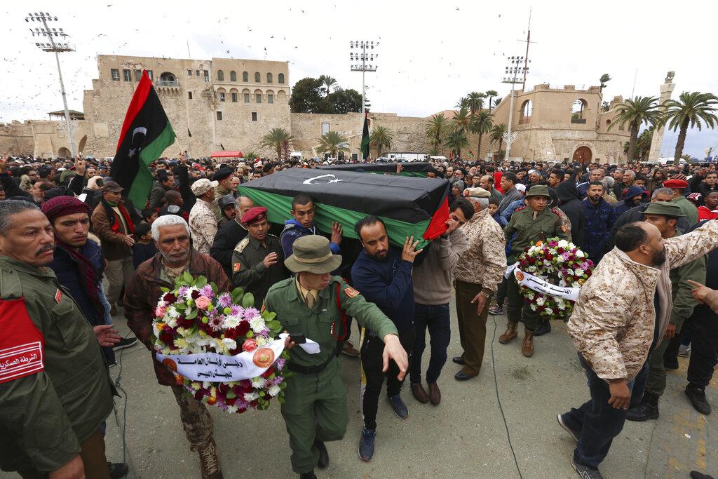 Fri. 8:49 a.m.: EU officials push for bloc to enforce Libya arms embargo