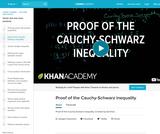 Linear Algebra: Proof of the Cauchy-Schwarz Inequality