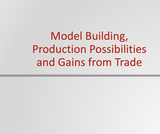 Principles of Microeconomics Course Content, Model Building, Production Possibilities and Gains from Trade, Model Building, Production Possibilities and Gains from Trade Resources