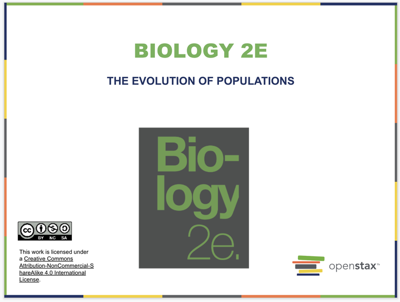 The Evolution of Populations Resources