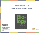 Biology I Course Content, The Evolution of Populations, The Evolution of Populations Resources