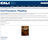Civil Procedure: Pleading