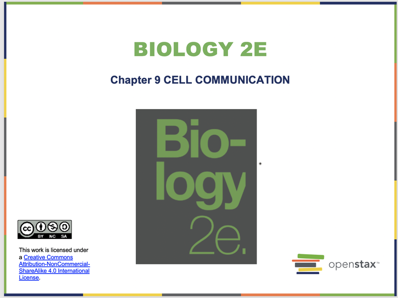 Cell Communication Introduction Resources