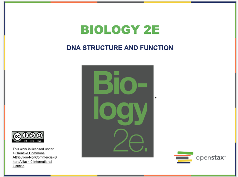 DNA Structure and Function Resources