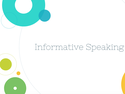 Informative Speaking Resources
