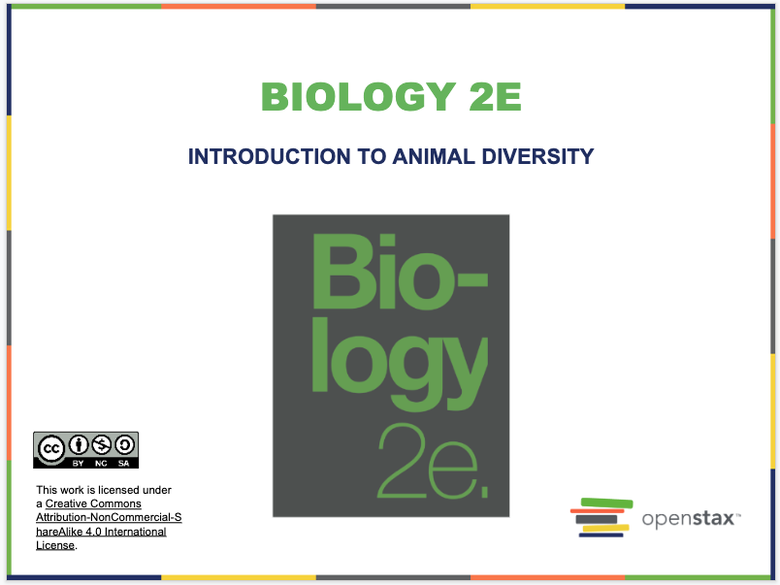 Introduction to Animal Diversity Resources