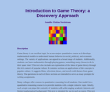 Introduction to Game Theory: a Discovery Approach