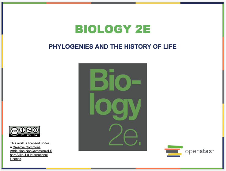 Phylogenies and the History of Life Resources