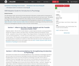 Introduction to Psychology Course Content, Introduction to the Course Package, OER Adoption Guide for Introduction to Psychology