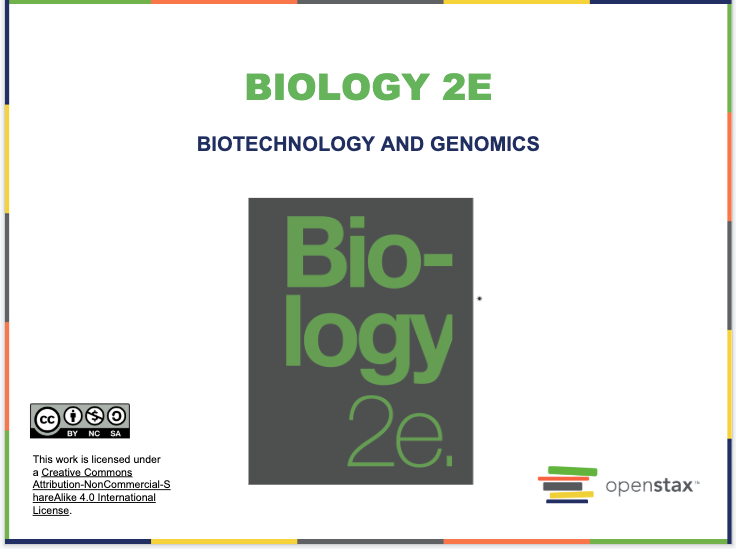 Biotechnology and Genomics Resources