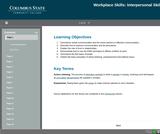 21st Century Workplace Skills: Lesson 2 Interpersonal Skills