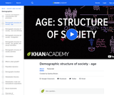 Demographic structure of society - age