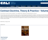 Contract Doctrine, Theory & Practice - Volume 1