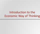 Principles of Microeconomics Course Content, Introduction to the Economic Way of Thinking, Introduction to the Economic Way of Thinking Resources