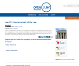 Law 101: Fundamentals of the Law