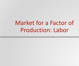 Principles of Microeconomics Course Content, Markets for the Factors of Production, Markets for the Factors of Production Resources